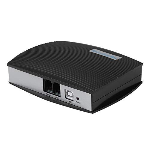 Registratore telefonico, Telefono USB a 1 canale Registratore telefonico Registratore vocale Registratore vocale del sistema, messaggi di allarme, statistiche dei dati, cronologia delle chiamate