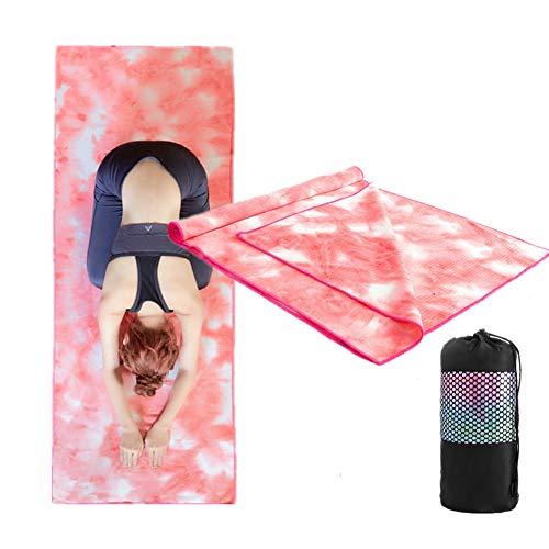 KUENG Toalla Microfibra Toalla Yoga Antideslizante Toalla para Estera De Yoga Toallas De Yoga para Yoga Caliente 2,Small