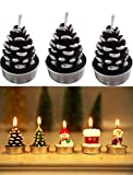 T-shin Juego de velas navideñas, colorido Papá Noel muñeco de nieve árbol...