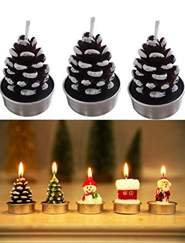 T-shin Juego de Velas de Navidad, Colorido árbol de Papá Noel, muñeco de Nieve Decorativo, Vela, decoración de Fiesta de Navidad, Velas de parafina para niños