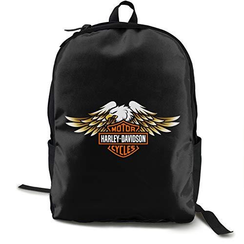 Poyxiya Harley Davidson Mochila Daypack for School Work and Uni Sports Backpack and School Bag