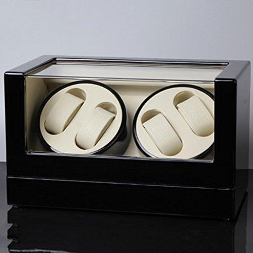 Caja Giratoria Relojes Watch Winder Caja de reloj del medidor automática de reloj automático, caja de reloj automático superior de cadena superior, medidor de mesa giratoria, importación del medidor d