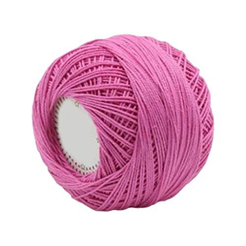 Goneryisour - Hilo de algodón para tejer a mano (3 hilos)