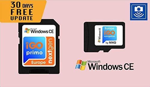 Scheda MicroSD con software di navigazione GPS per Windows CE iGO Primo NextGen 3D Mappe EUR/RUS/TUR/per PKW/Camper/Camper/30 giorni Aggiornamenti gratuiti