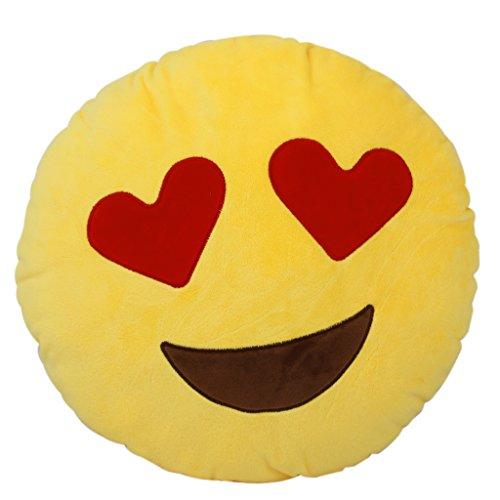 【ノーブランド品】抱き枕 クッションカバー 装飾 絵文字 顔 柔らかい ギフト 装飾  恋