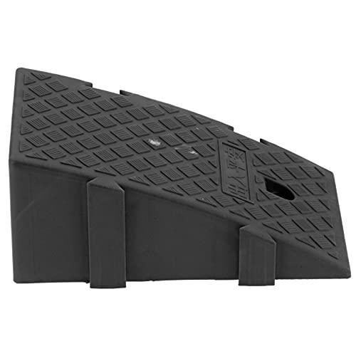 Rampas de umbral para puertas, rampas de carga resistentes con material plástico PP de grado industrial para silla de ruedas para umbral(negro)
