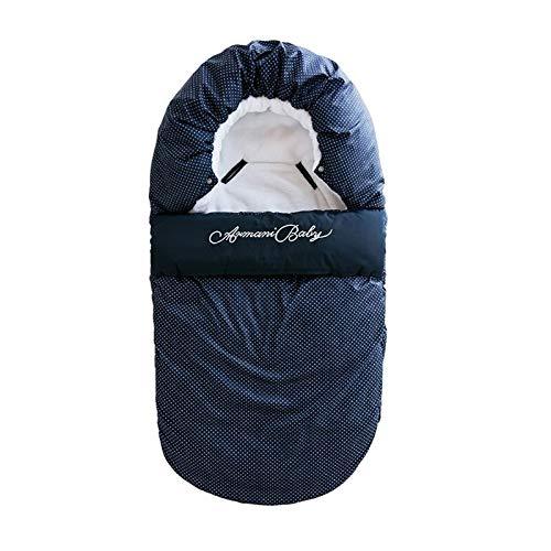 HUKN Bebé Sombra de Dormir Recién Nacidos Mochilas Manta sobre sobre Bebé Bebé Outer Tronco de Invierno Cálido Swaddle Stroller Wrap (Color : Blue, Kid Size : 7 12 Months)