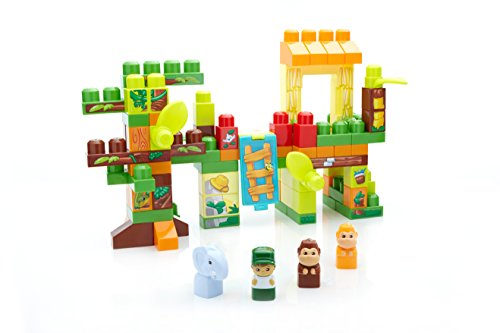 Mega Bloks Jungle Fun Tub 88 Pieces