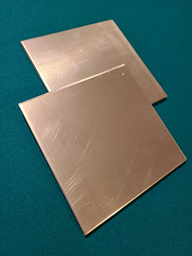 """.250 Aluminum 2 Pack - Size 6"""" x 6"""" Sheet Metal Plate 1/4 Thick."""