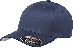 Flexfit Men's Athletic Baseball Fitted Cap, Navy, S/M at Amazon Men's Clothing store