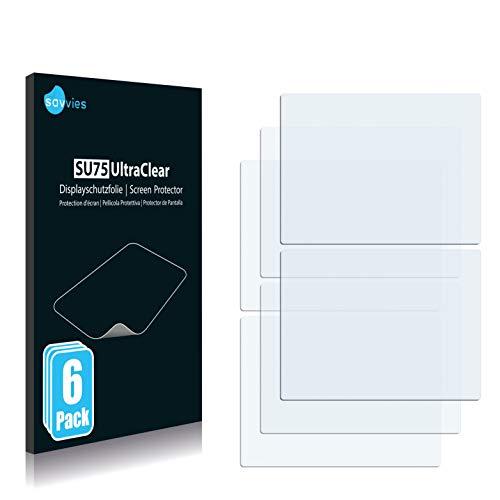Savvies 6X Schutzfolie kompatibel mit Nintendo DS Displayschutz-Folie Ultra-transparent