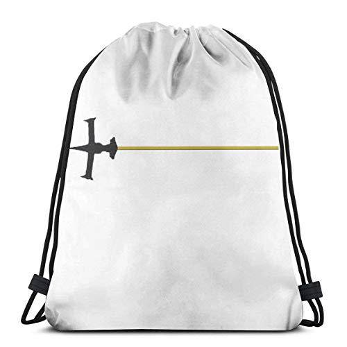 Lmtt Bolsas de cuerdas para el gimnasio Swordfish 2 Sport Bag Gym Sack Mochila con cordón Mochilas Casual Unisex Escuela Bolsa de Cuerda Bolsas de Gimnasia 36*42cm