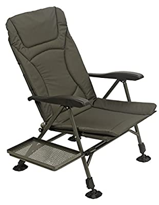 TF Gear Flat Out Recliner Carp Fishing Armchair - With Side Accessory Tray from TF Gear