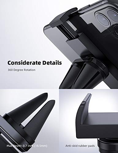 Car Cell Phone Mount, Lamicall Car Air Vent Clip Holder, Universal Stand Hands Free Cradle Compatible with iPhone 11 Pro XS Max XR X 8 8P 7 7P 6S 6P 6, Galaxy S6 S8 S9 S8+ S9+ S10 - Black