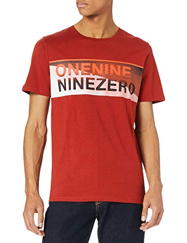 Jack & Jones Jcojenson tee SS Crew Neck Camiseta, Red Ochre/Fit: Slim, L para Hombre