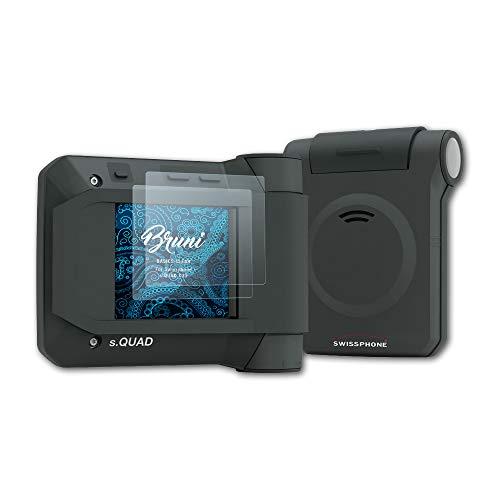 Bruni Schutzfolie kompatibel mit Swissphone s.Quad X35 Folie, glasklare Displayschutzfolie (2X)