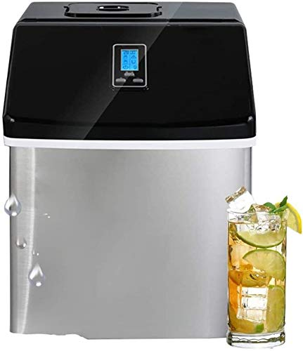 HEMFV Portable Ice Maker Machine Comfort Portable Clear Ice Maker 25KG/24H Daily, Perfect Countertop Icemaker Machine, Portable Stainless Steel Ice Maker