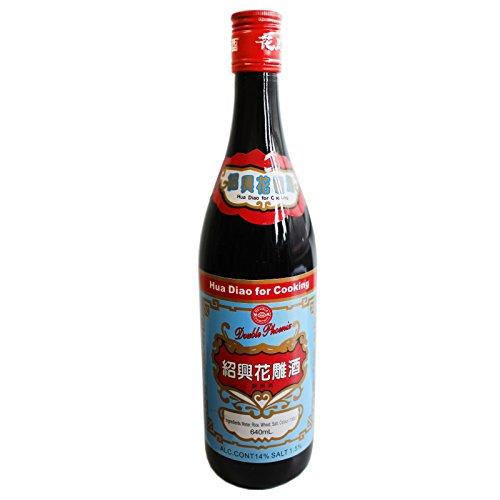 Double Phoenix Hua Diao Chinesischer Kochwein 640ml (rot blau)