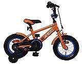 AMIGO Sports - Velo Enfant - 12 Pouces - Garçon - 3 Ans - avec Frein à rétropédalage - Orange