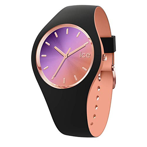 Ice-Watch - Ice Duo Chic Schwarz purple - Damen wristwatch mit Silikonarmband - 016982 (Medium)