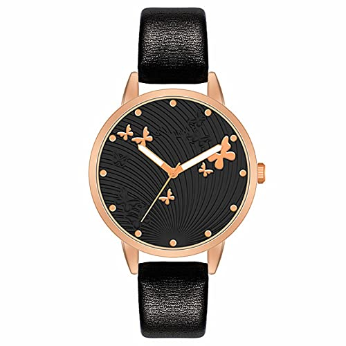38mmWomen S Relojes Mariposa Lujo Mujeres Moda Reloj Simple Vestido Femenino Relojes de Pulsera Diseño Clásico Señoras Reloj