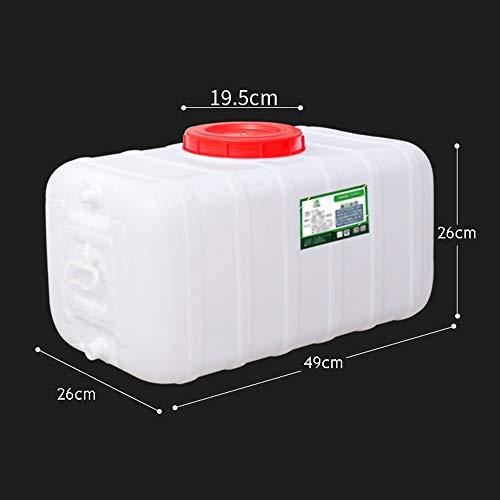 Guoda Wasserkanister  PE-Material In Lebensmittelqualität   Hochtemperaturbeständigkeit   Niedertemperaturbeständigkeit   Mehrzweck   Weiß (Size : 30L)