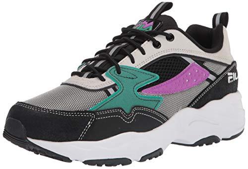 Fila mens Men's Fila Trail Tracer Sneaker, Black/Cream, 7 US