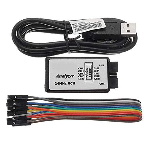 Merssavo USB Logic Analyzer Device Set Kompatibel zu Saleae 24MHz 8CH für ARM FPG GRA