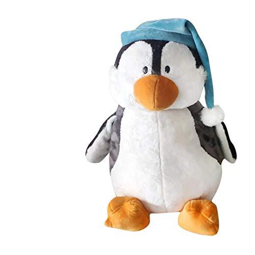 Hunpta @ 25/35 cm Nettes Pinguin mit Hut Plüschtiere Kinder Plüsch Spielzeug Stofftier Kuscheltier Puppe Dekokissen Geburtstag Valentinstag Weihnachten Kreativ Geschenk für Junge Mädchen