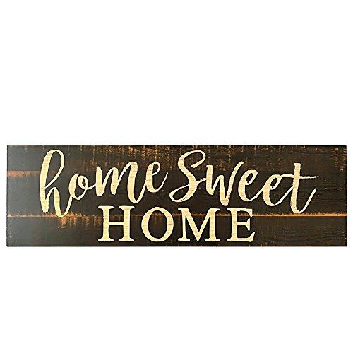 Godyluck Home Sweet Home Script Design Gran Cartel de Madera rústica Apenada Solid Plaque Style 1
