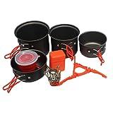 CYSHAKE Artículos for Exteriores de Picnic Pot Set portátil Plegable de Acampar Olla Conjunto Pot Cocina portátil