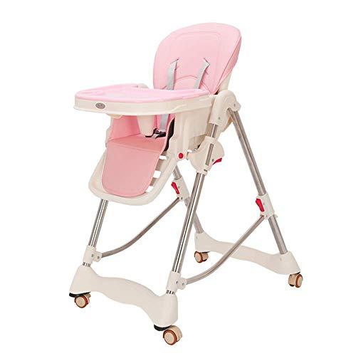 ZCFXGHH Multifunctionele baby eettafel, opklapbare hoge stoel, draagbare tafeltjes, verstelbare kindereetkamerstoel