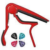 Donner ギター カポ capo 楽しい音楽体験のため参上 多彩7色選択可能 赤