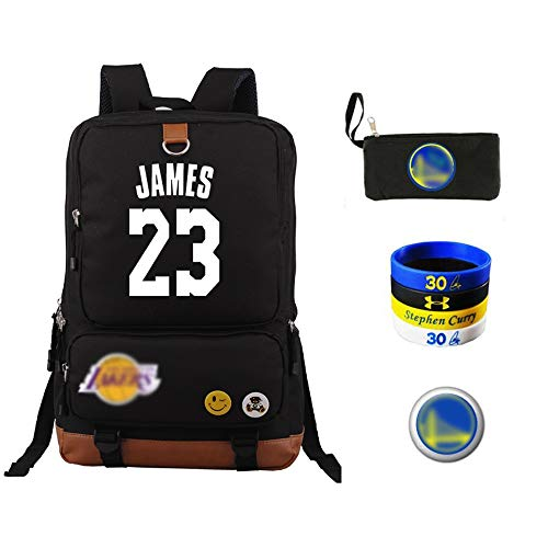 WNN-URG NBA LeBron James Laptop Backpack for 15.6 Inch Travel Business Computer Backpack with Water-Repellent College School Casual Daypack for/Men/Women-Charcoal Black(Lakers URG