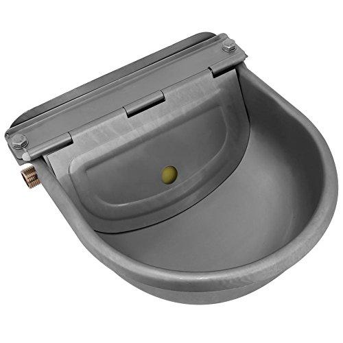 GOTOTOP 4L Edelstahl Futternapf Wassernapf Futtertrog Schüssel Automatisch Trinknapf Gerät für Pferde Ziegen Schafe Rinder Tränke