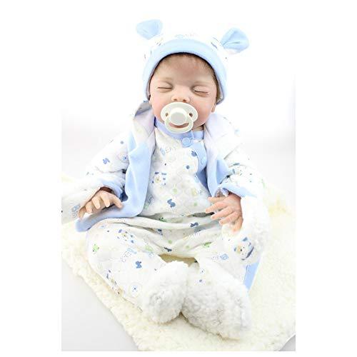 Muñecas Reborn Bebe 19.6 Pulgadas 50 cm Niño Realista Ojos Abiertos Bebé Recién Nacido Newborns Hiperrealistas Silicona para Niñas Hecho A Mano Reales Suave Juguete