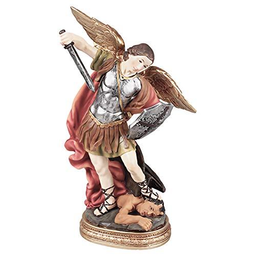 """Pavally® ESTATUA DE SAN MICHAEL EL ARCÁNGEL 12,7 cm (5"""") Figura de resina de Dios Iglesia católica de regalo"""