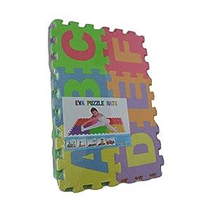KICCOLY Puzzle Goma EVA de 36 Piezas | Alfombra Infantil Puzzle de Letras | Alfombra puzle (36 Piezas) | Alfombra Goma para bebé | Alfombra Bebe | Alfombra Puzzle de Letras