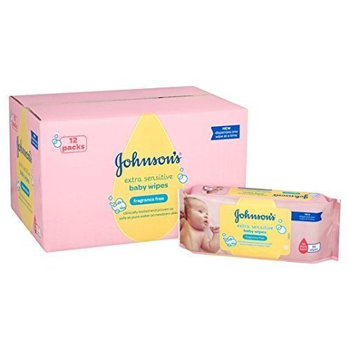 Bebé Johnson extra Toallitas Sensible 12 x 56 paquete