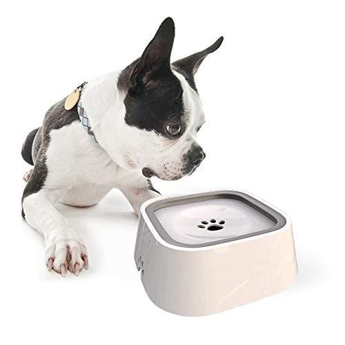 MonsterKill Recipiente de Agua para Perro/Dispensador para Mascota/Bebedero para Gatos - Mantener el Agua Limpia,1.5L (Blanco)