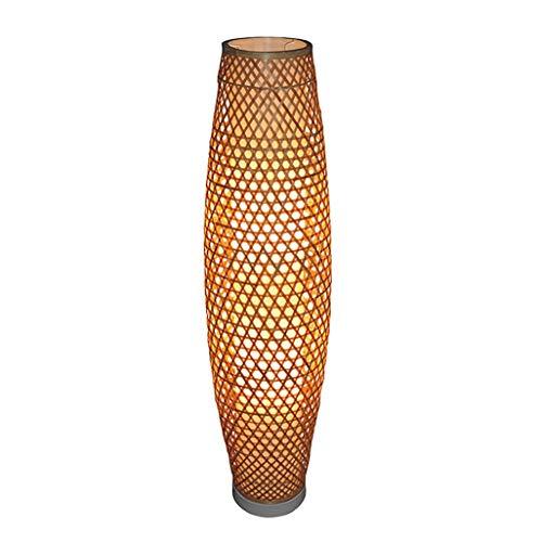 Lampadaire Lampadaire, salon de style chinois en bambou, salle d'étude, lampadaire de la chambre, villa d'art en bambou créatif, décoration classique, lampadaire taille: 25 * 100cm (Couleur : A)