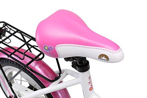 BIKESTAR Premium Sicherheits Kinderfahrrad 12 Zoll für Mädchen ab 3-4 Jahre | 12er Kinderrad Classic | Fahrrad für Kinder Pink & Weiß - 4