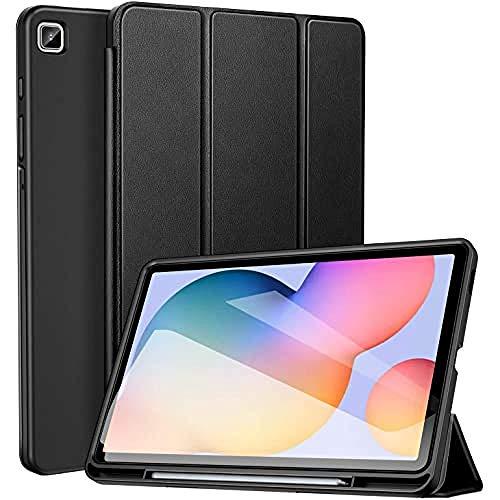 ZtotopCase Custodia per Samsung Galaxy Tab S6 Lite 10.4 Pollici 2020, Ultra Sottile Cover con Pencil Holder, Smart Case per Samsung Galaxy Tab S6 Lite 2020 (SM-P610/SM-P615) - Nero