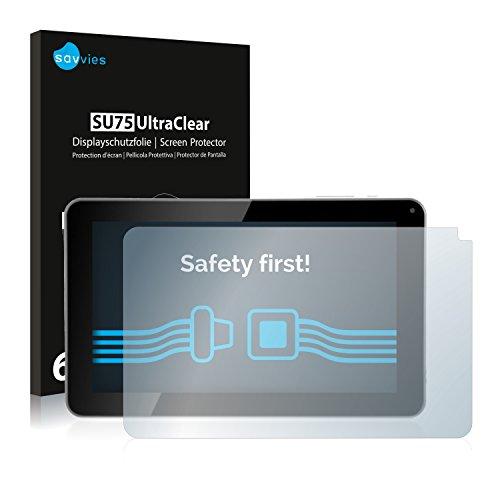 savvies 6-Pezzi Pellicola Protettiva Compatibile con Kliver Klipad 9  Medium (2014) Protezione Schermo Trasparente