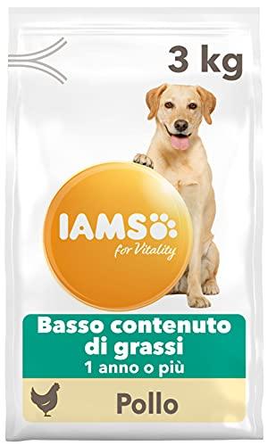 IAMS for Vitality Light in Fat - Alimento Secco per Cani Adulti (1 Anno o Più) con Pollo Fresco, 3 kg