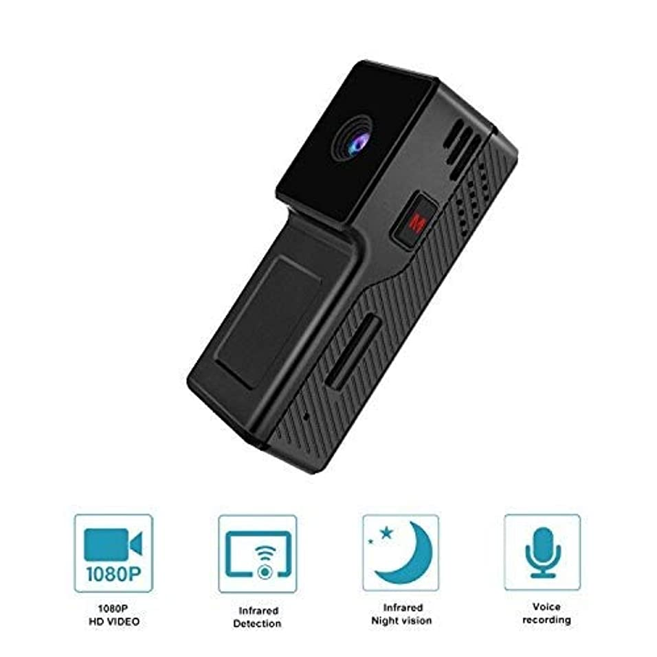 一貫性のないナンセンス医学超小型カメラ ミニ隠しスパイカメラwith1080Pナイトビジョン、動き検出機能付きポータブル小型HD乳母カム、家庭用およびオフィス用の屋内用秘密防犯カメラ (Color : +128G memory card)