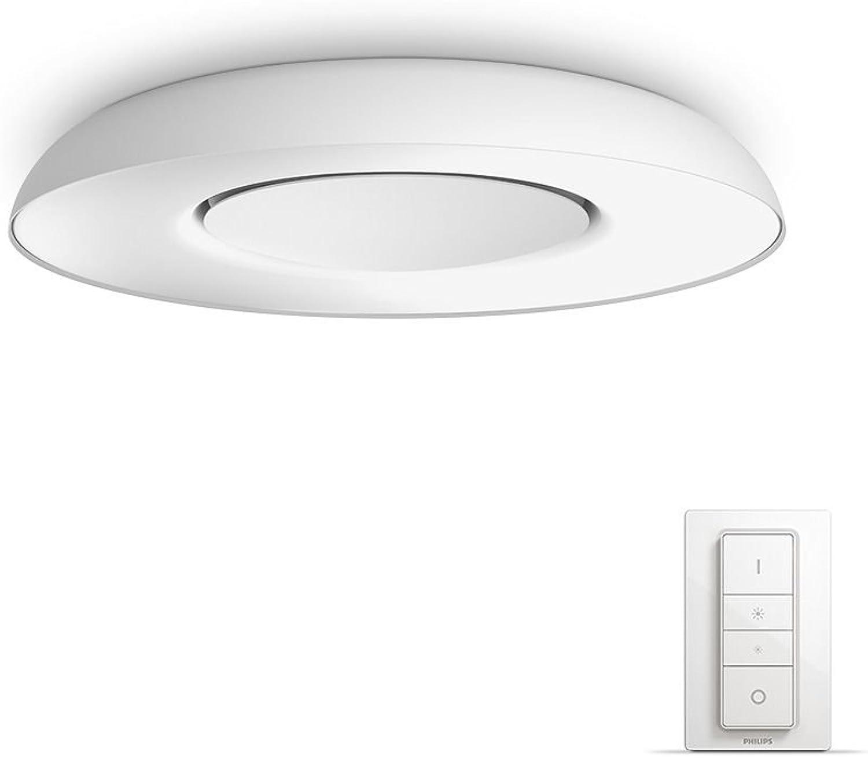Philips Hue LED Deckenleuchte Still inkl. Dimmschalter, dimmbar, alle Weischattierungen, steuerbar via App, wei, kompatibel mit Amazon Alexa (Echo, Echo Dot)