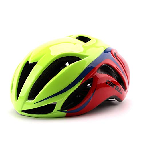 Cairbull Aerodinámica Casco de Bicicletta, Unisex Adulto, Ajustable 56-62 cm (Green,...