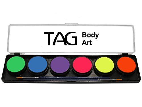 TAG Body Art paleta de neón 6 x 10g