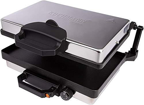 Original KOCHMANN Germany Multigrill Tischgrill Elektrogrill Kontaktgrill Lahmacun Toaster 2000W mit Softgriff